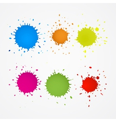 Colorful Splashes Blots Stains Set vector