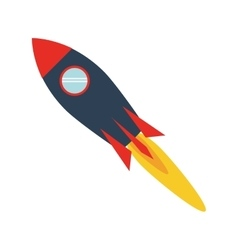 Colorful toy rocket icon vector