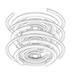 concentric radiating circles vector image