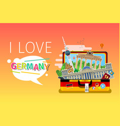 concept travel or studying german vector image