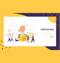 Copywriter creative pencil idea landing page vector