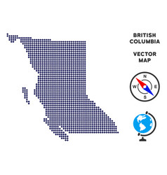 Dot british columbia province map vector