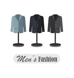 dummies show a set of men cloths vector image