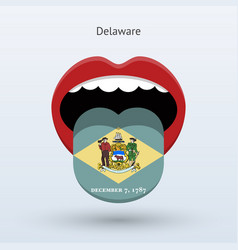 electoral vote of delaware abstract mouth vector image