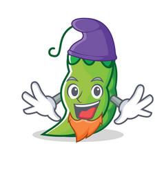 elf peas character cartoon style vector image