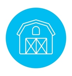 Farm building line icon vector image