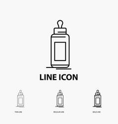 feeder bottle child baby milk icon in thin vector image