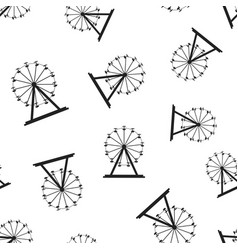 Ferris wheel seamless pattern background business vector