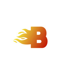Fire b alphabet letter icon for company red vector
