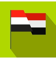Flag of Egypt icon flat style vector image
