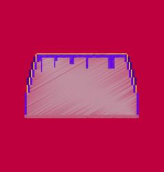 flat shading style icon pixel tacos vector image
