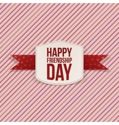 Friendship Day paper greeting Card vector
