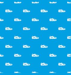 Golf shoe pattern seamless blue vector