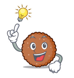 Have an idea chocolate biscuit mascot cartoon vector