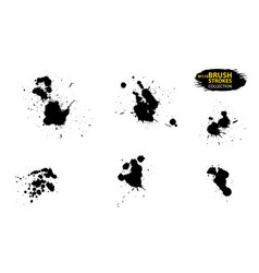 ink drops and splashes artistic dirty grunge vector image