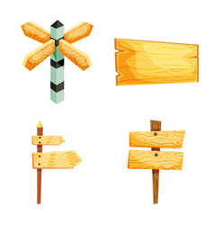 Isolated object of signboard and wood logo set of vector