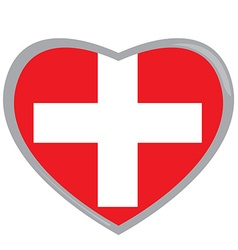 Isolated Swiss flag vector
