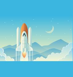 Launching rocket vector