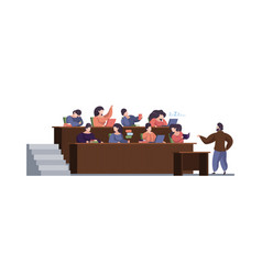 lecture room front view hall audience vector image
