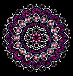 Mandala dot painting design aboriginal vector