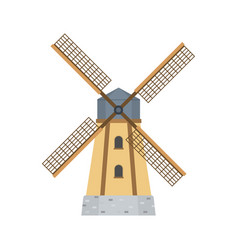 mill for making flour from grain agriculture vector image