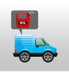 Mini truck canister oil icon vector