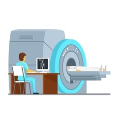 MRI scan and diagnostics Health care vector