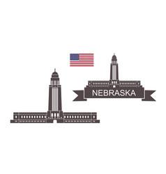 nebraska vector image