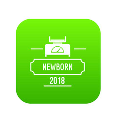 newborn scales icon green vector image