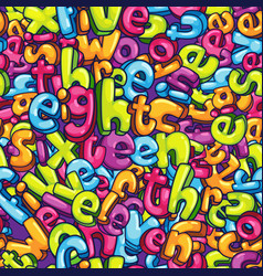 numbers words background vector image