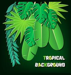 papercut tropical 02 vector image