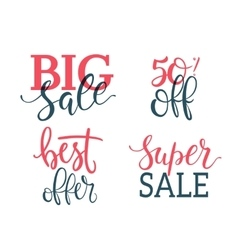 Sale Inscriptions Lettering set vector
