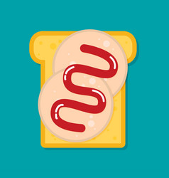 sandwich flat style vector image