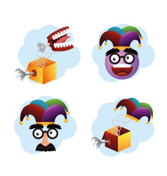 set humor things to fools day celebration vector image