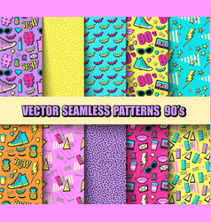 Set seamless backgrounds vector