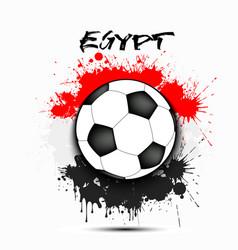 Soccer ball and egypt flag vector