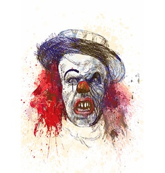 spooky clown vector image