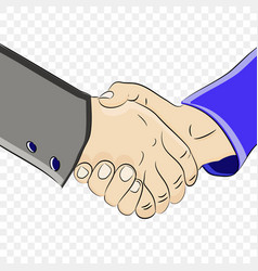strong handshake of two mens hands vector image