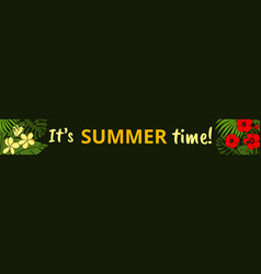 summer web banner vector image