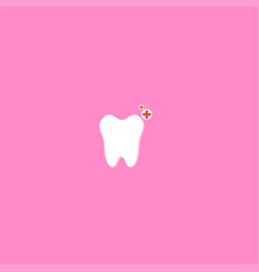 tooth and healthy symbol design vector image