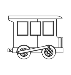 Train toy kid isolated icon vector