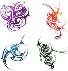 Tribal art set vector image