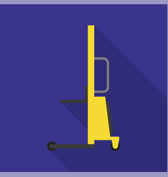 warehouse lift icon flat style vector image