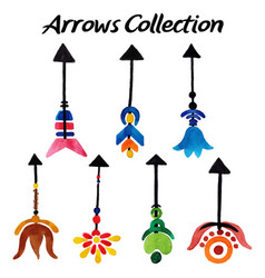 Watercolor arrows collection vector