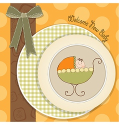welcome new baby vector image