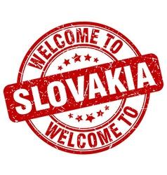 welcome to Slovakia vector image