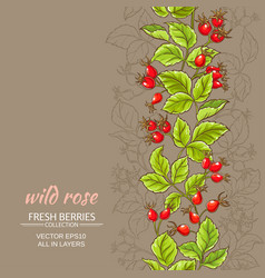 Wild rose pattern vector