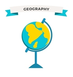 World Globe Earth school education icon vector image
