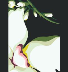 background flower motif vector image vector image