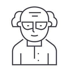 chemistscientist line icon sign vector image